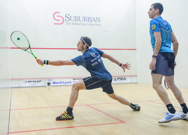 Ryan Cuskelly really started to turn the tide in the second game against Ali Farag. (Photo by Bryan Mitchell for BAC)