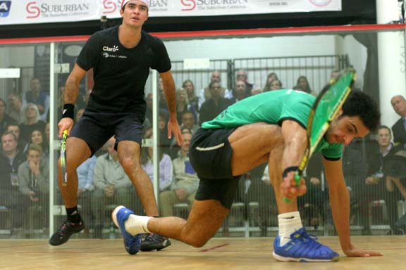 In a match befitting their #9 and #10 world rankings, #9 Abouelghar squeaked out the win in five. (MCO photo)